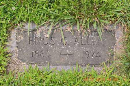 ALLEN, ENOS G. - Branch County, Michigan   ENOS G. ALLEN - Michigan Gravestone Photos