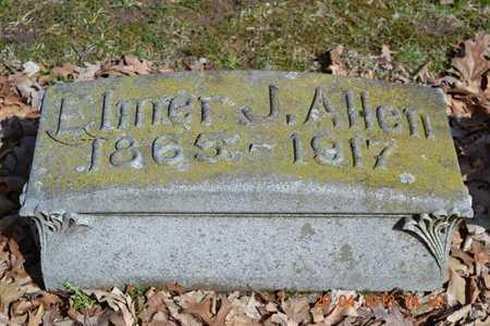ALLEN, ELMER J. - Branch County, Michigan   ELMER J. ALLEN - Michigan Gravestone Photos