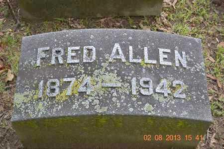 ALLEN, FRED - Branch County, Michigan   FRED ALLEN - Michigan Gravestone Photos