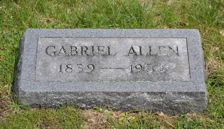 ALLEN, GABRIEL(HEADSTONE) - Branch County, Michigan | GABRIEL(HEADSTONE) ALLEN - Michigan Gravestone Photos
