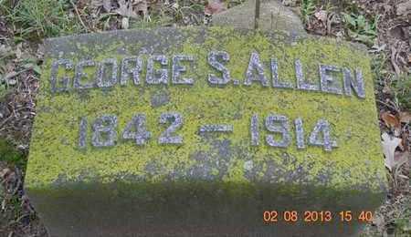 ALLEN, GEORGE S. - Branch County, Michigan   GEORGE S. ALLEN - Michigan Gravestone Photos