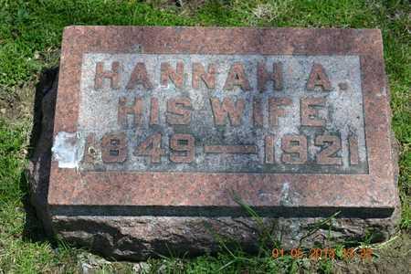 ALLEN, HANNAH A. - Branch County, Michigan | HANNAH A. ALLEN - Michigan Gravestone Photos