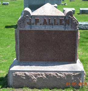 ALLEN, J.P.(LOT MARKER) - Branch County, Michigan | J.P.(LOT MARKER) ALLEN - Michigan Gravestone Photos
