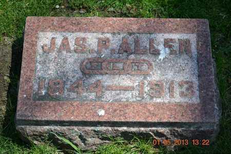 ALLEN, JAS. P. - Branch County, Michigan | JAS. P. ALLEN - Michigan Gravestone Photos