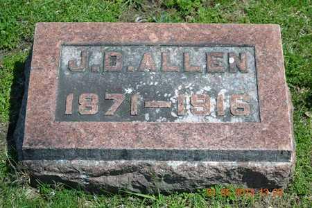 ALLEN, J.D. - Branch County, Michigan | J.D. ALLEN - Michigan Gravestone Photos