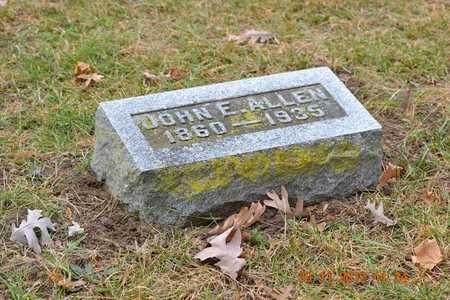 ALLEN, JOHN E. - Branch County, Michigan | JOHN E. ALLEN - Michigan Gravestone Photos