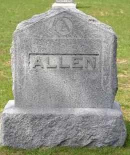 ALLEN, LOT MARKER - Branch County, Michigan | LOT MARKER ALLEN - Michigan Gravestone Photos