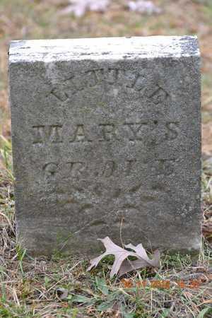 ALLEN, LITTLE MARY GERTUDE - Branch County, Michigan | LITTLE MARY GERTUDE ALLEN - Michigan Gravestone Photos