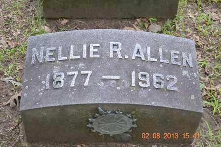 ALLEN, NELLIE R. - Branch County, Michigan | NELLIE R. ALLEN - Michigan Gravestone Photos