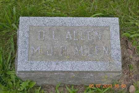 ALLEN, MARTHA JANE - Branch County, Michigan | MARTHA JANE ALLEN - Michigan Gravestone Photos