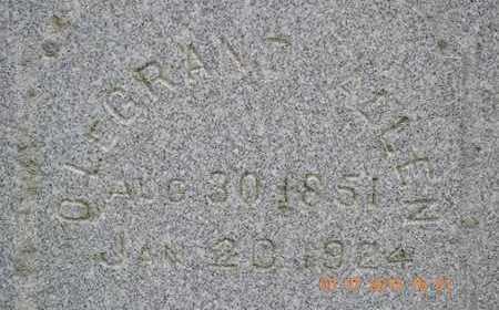 ALLEN, OLEGRAND L. - Branch County, Michigan   OLEGRAND L. ALLEN - Michigan Gravestone Photos