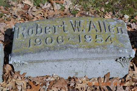 ALLEN, ROBERT W. - Branch County, Michigan | ROBERT W. ALLEN - Michigan Gravestone Photos