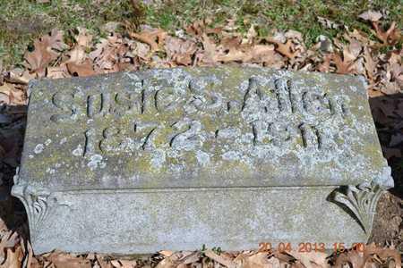 ALLEN, SUSIE S. - Branch County, Michigan   SUSIE S. ALLEN - Michigan Gravestone Photos