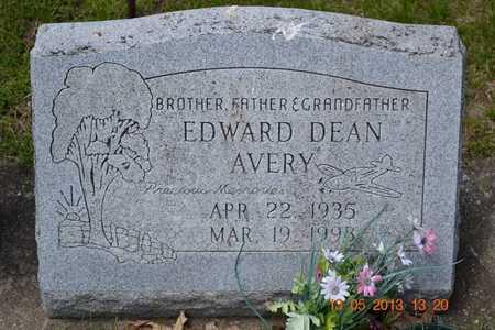 AVERY, EDWARD DEAN - Branch County, Michigan | EDWARD DEAN AVERY - Michigan Gravestone Photos