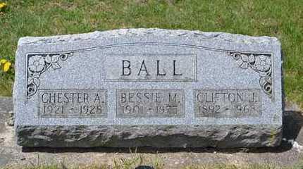 BALL, CHESTER A. - Branch County, Michigan | CHESTER A. BALL - Michigan Gravestone Photos