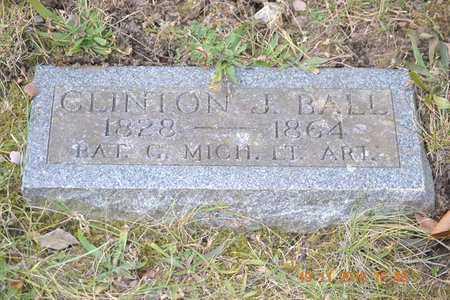BALL, CLINTON J. - Branch County, Michigan   CLINTON J. BALL - Michigan Gravestone Photos