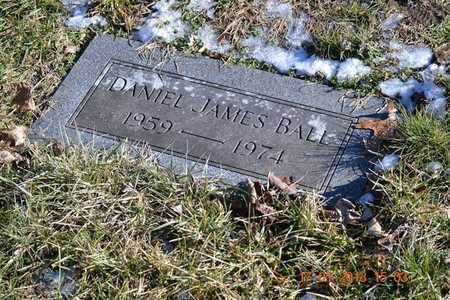 BALL, DANIEL JAMES - Branch County, Michigan | DANIEL JAMES BALL - Michigan Gravestone Photos
