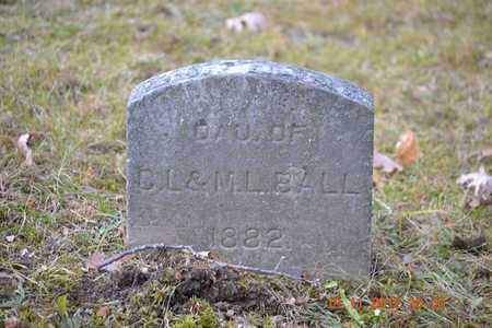 BALL, INFANT DAUGHTER - Branch County, Michigan | INFANT DAUGHTER BALL - Michigan Gravestone Photos