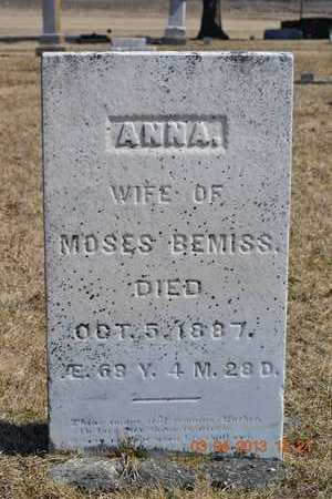 BEMISS, ANNA - Branch County, Michigan   ANNA BEMISS - Michigan Gravestone Photos
