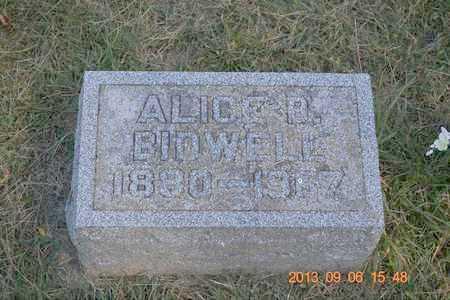 BIDWELL, ALICE B. - Branch County, Michigan | ALICE B. BIDWELL - Michigan Gravestone Photos