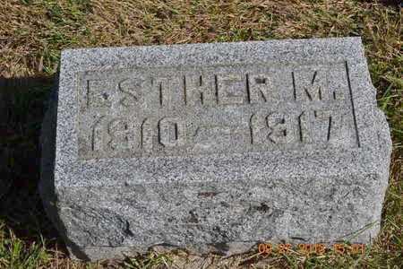 BILLMAN, ESTHER M. - Branch County, Michigan | ESTHER M. BILLMAN - Michigan Gravestone Photos
