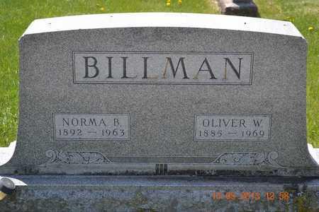 BILLMAN, NORMA B. - Branch County, Michigan | NORMA B. BILLMAN - Michigan Gravestone Photos