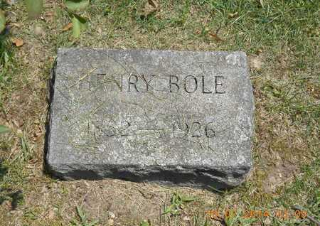 BOLE, HENRY - Branch County, Michigan   HENRY BOLE - Michigan Gravestone Photos