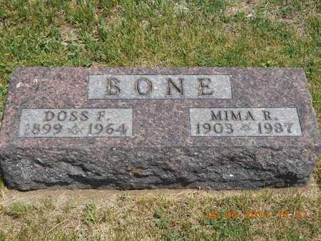BONE, DOSS F. - Branch County, Michigan | DOSS F. BONE - Michigan Gravestone Photos