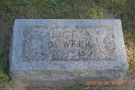 BOWKER, ALICE A. - Branch County, Michigan   ALICE A. BOWKER - Michigan Gravestone Photos