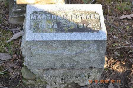 BOWKER, MARTHA M. - Branch County, Michigan | MARTHA M. BOWKER - Michigan Gravestone Photos