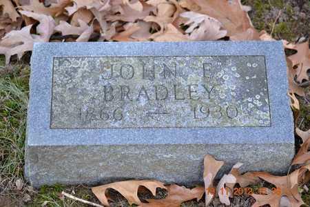 BRADLEY, JOHN E. - Branch County, Michigan | JOHN E. BRADLEY - Michigan Gravestone Photos