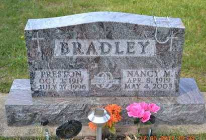 BRADLEY, NANCY M. - Branch County, Michigan | NANCY M. BRADLEY - Michigan Gravestone Photos