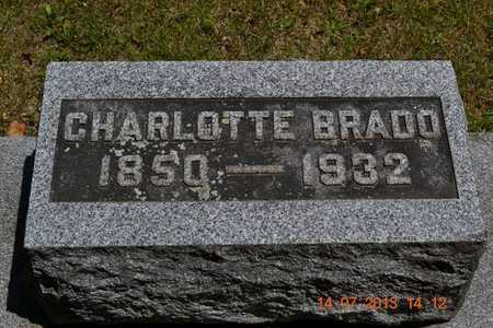BRADO, CHARLOTTE - Branch County, Michigan | CHARLOTTE BRADO - Michigan Gravestone Photos