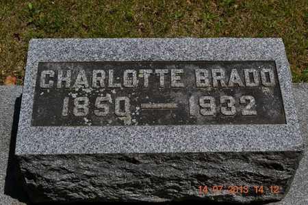 BRADO, CHARLOTTE - Branch County, Michigan   CHARLOTTE BRADO - Michigan Gravestone Photos