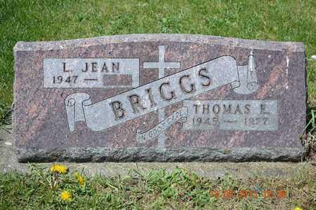 BRIGGS, THOMAS E. - Branch County, Michigan   THOMAS E. BRIGGS - Michigan Gravestone Photos