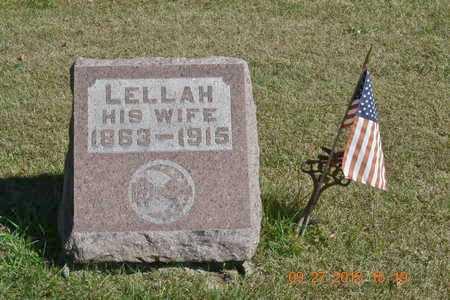 BURNISON, LELLAH - Branch County, Michigan | LELLAH BURNISON - Michigan Gravestone Photos