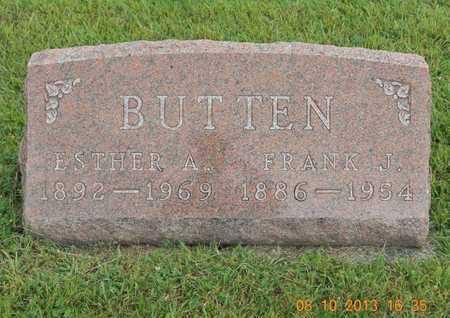 BUTTEN, ESTHER A. - Branch County, Michigan | ESTHER A. BUTTEN - Michigan Gravestone Photos