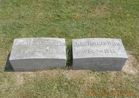 HOLMES DAVIS, JANE - Branch County, Michigan | JANE HOLMES DAVIS - Michigan Gravestone Photos