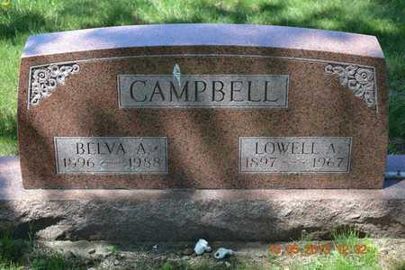 CAMPBELL, BELVA A. - Branch County, Michigan   BELVA A. CAMPBELL - Michigan Gravestone Photos