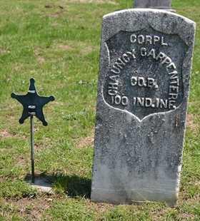 CARPENTER, CORPL. CHAUNCY - Branch County, Michigan   CORPL. CHAUNCY CARPENTER - Michigan Gravestone Photos