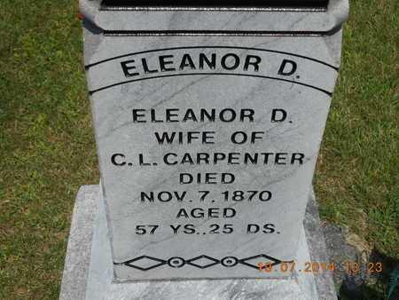 CARPENTER, ELEANOR D. - Branch County, Michigan   ELEANOR D. CARPENTER - Michigan Gravestone Photos
