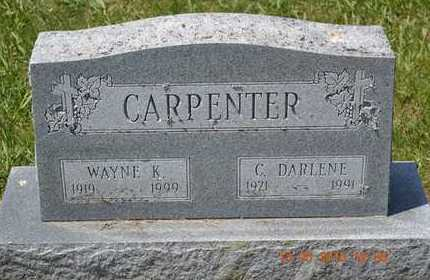 CARPENTER, WAYNE K. - Branch County, Michigan | WAYNE K. CARPENTER - Michigan Gravestone Photos