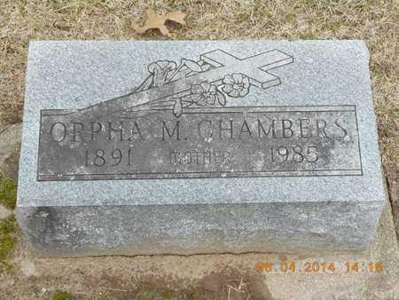 CHAMBERS, ORPHA M. - Branch County, Michigan | ORPHA M. CHAMBERS - Michigan Gravestone Photos