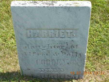 COOLEY, HARRIET - Branch County, Michigan   HARRIET COOLEY - Michigan Gravestone Photos