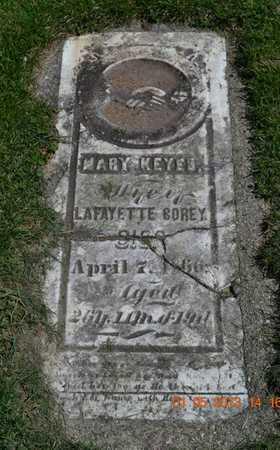 KEYES COREY, MARY - Branch County, Michigan   MARY KEYES COREY - Michigan Gravestone Photos