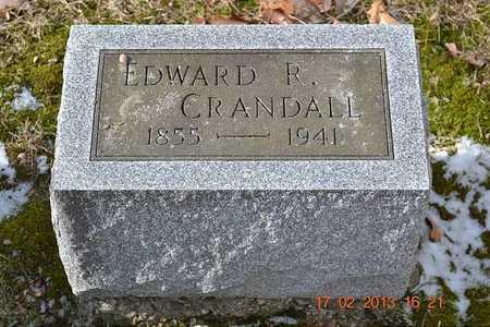 CRANDALL, EDWARD R. - Branch County, Michigan | EDWARD R. CRANDALL - Michigan Gravestone Photos
