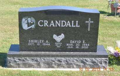 CRANDALL, SHIRLEY A. - Branch County, Michigan | SHIRLEY A. CRANDALL - Michigan Gravestone Photos