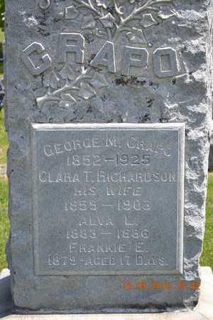 CRAPO, FAMILY CLOSEUP - Branch County, Michigan | FAMILY CLOSEUP CRAPO - Michigan Gravestone Photos