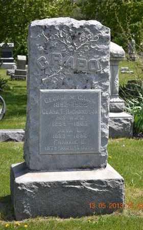 CRAPO, FRANKIE E. - Branch County, Michigan | FRANKIE E. CRAPO - Michigan Gravestone Photos