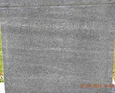 DART, ELMER E.(CLOSEUP) - Branch County, Michigan | ELMER E.(CLOSEUP) DART - Michigan Gravestone Photos